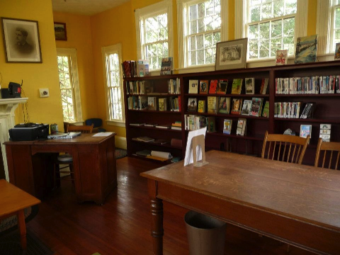 Photograph of the Haydenville Library Interior
